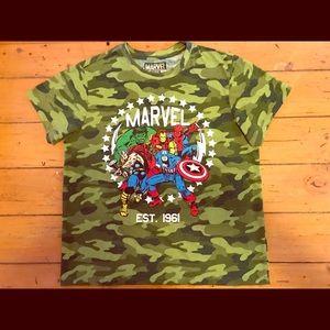 Marvel camouflage tee
